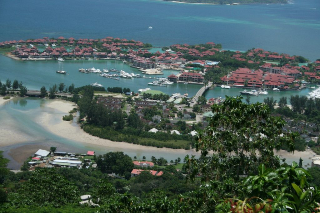Birds-eye view of Seychelles Island