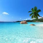 Seychelle Island beach view