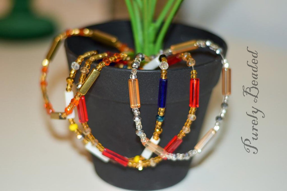 Handmade Glass seed Anklets